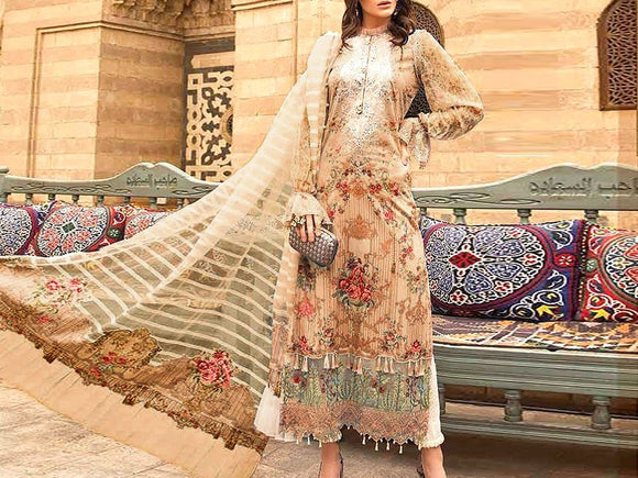 Maria B Replica Embroidered Lawn Suit (DZ13076)