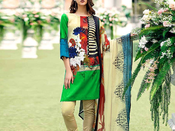 Charizma Replica Embroidered Lawn Suit (DZ13104)