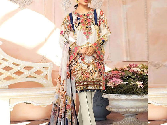 Embroidered Linen Dress (DZ13231)