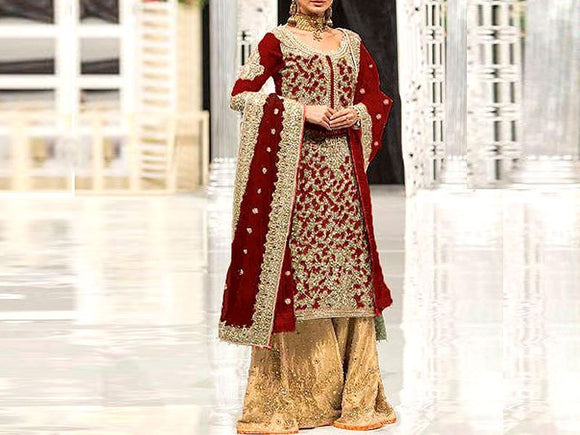Handwork Embroidered Net Dress (DZ13281)