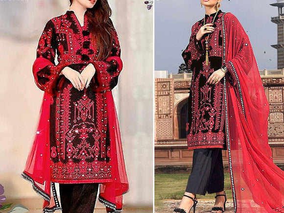 Embroidered Cotton Dress (DZ13285)