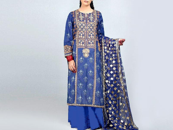 Embroidered Linen Dress (DZ13299)