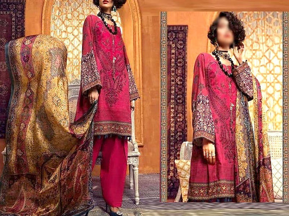 Maria B Replica Embroidered Khaddar Dress (DZ13309)