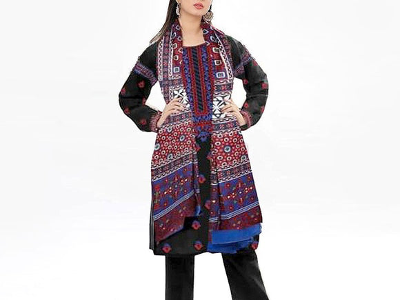Embroidered Linen Dress (DZ13312)