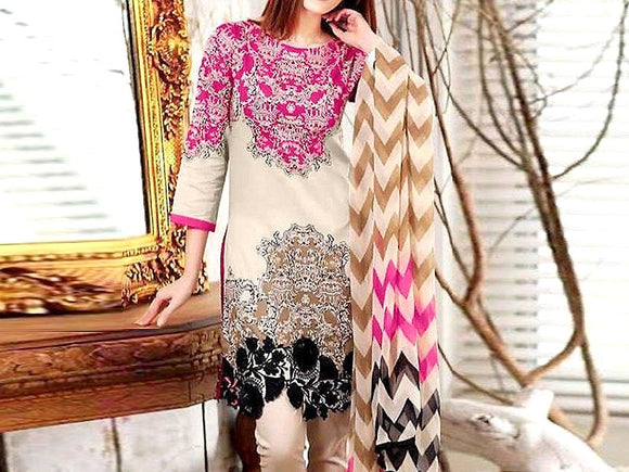 Charizma Replica Embroidered Linen Dress (DZ13346)