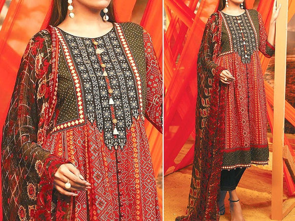 Edenrobe Replica Embroidered Linen Dress (DZ13349)
