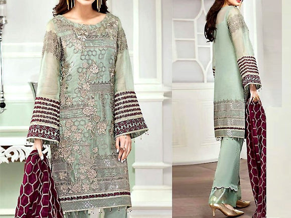 Embroidered Masoori Dress (DZ13363)