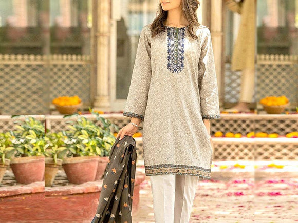 Zeen Replica Embroidered Linen Dress (DZ13407)