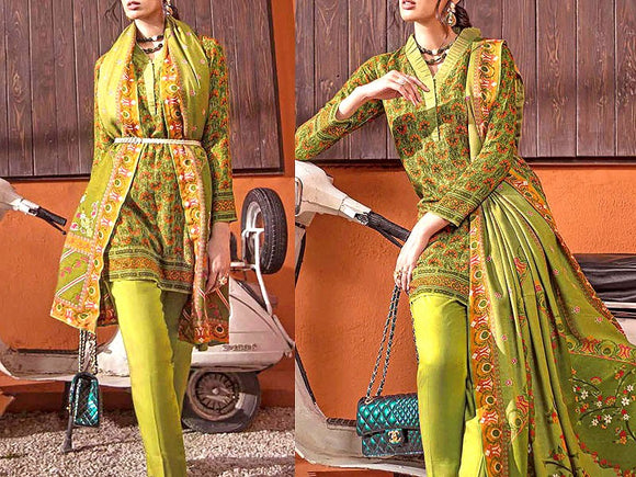 Printed Khaddar Dress (DZ13424)