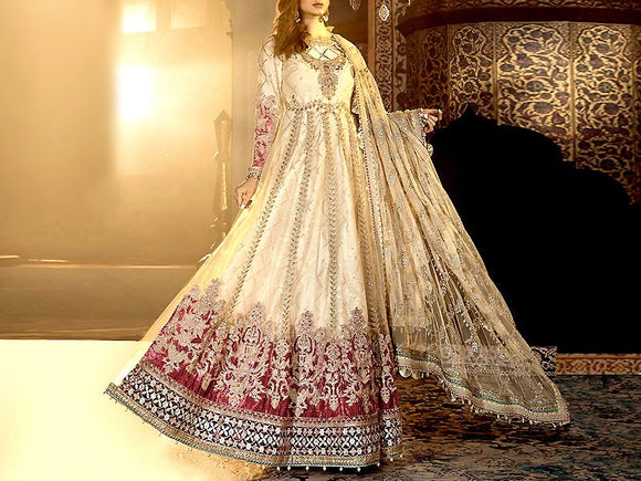 Maria B Replica Handwork Embroidered Net Bridal Maxi (DZ13435)
