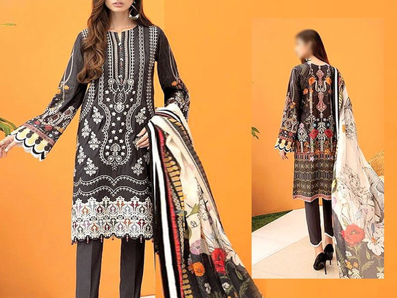Embroidered Dhanak Dress (DZ13452)