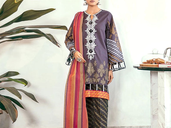 Embroidered Linen Dress (DZ13456)