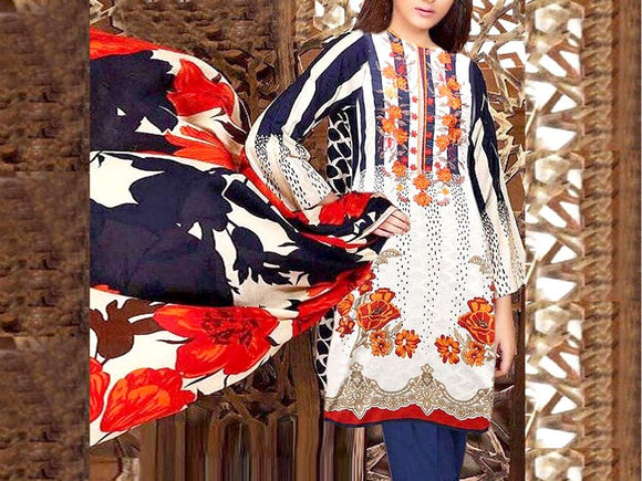 Charizma Replica Embroidered Khaddar Dress (DZ13472)