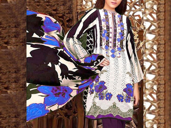 Embroidered Khaddar Dress (DZ13473)