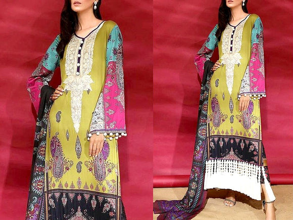 Embroidered Khaddar Dress (DZ13474)