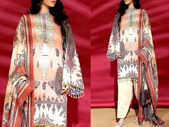 Embroidered Khaddar Dress (DZ13475)