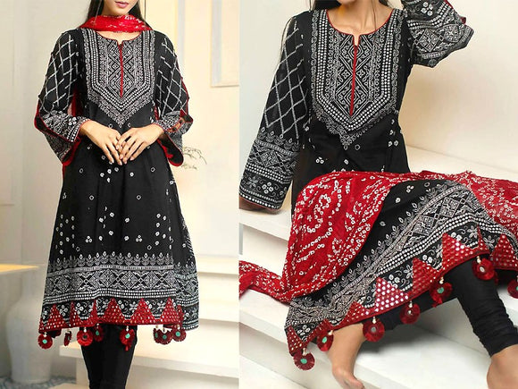 Embroidered Cotton Dress (DZ13485)