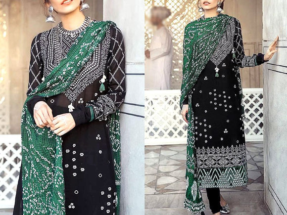 Embroidered Cotton Dress (DZ13493)