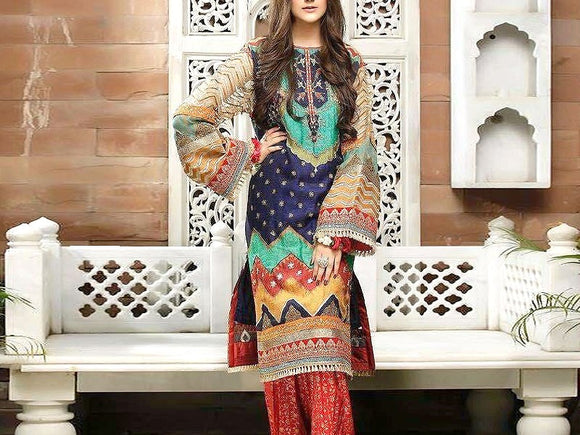 Zahra Ahmad Replica Embroidered Marina Dress (DZ13522)