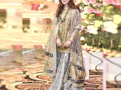 Handwork Embroidered Masoori Wedding Dress (DZ13540)