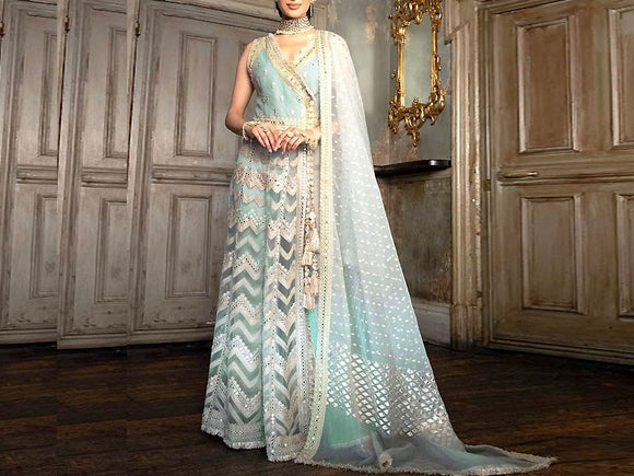Sobia Nazir Replica Heavy Embroidered Net Maxi Dress (DZ13553)