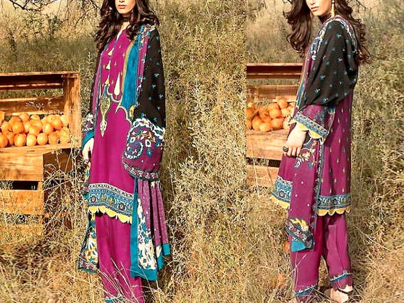 Printed Khaddar Dress (DZ13567)