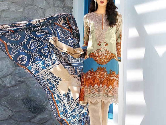 Gul Ahmed Replica Embroidered Dhanak Dress (DZ13581)