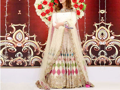 Mirror Work Embroidered Net Maxi (DZ13587)
