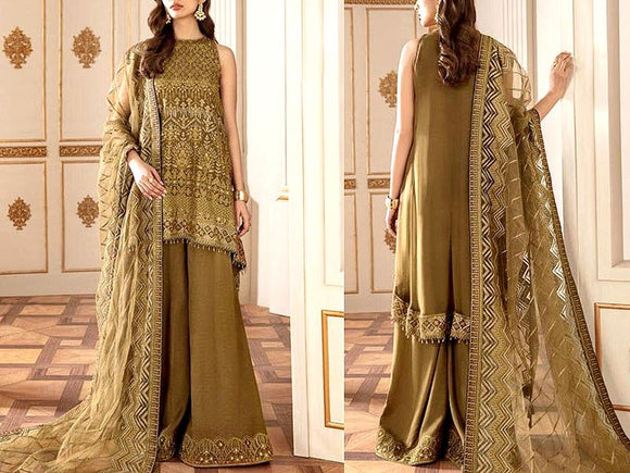 Embroidered Chiffon Party Dress (DZ13592)