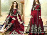 Indian Embroidered Fancy Chiffon Maxi Dress (DZ13620)