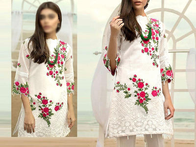 2-Pcs Embroidered Lawn Dress (DZ13664)