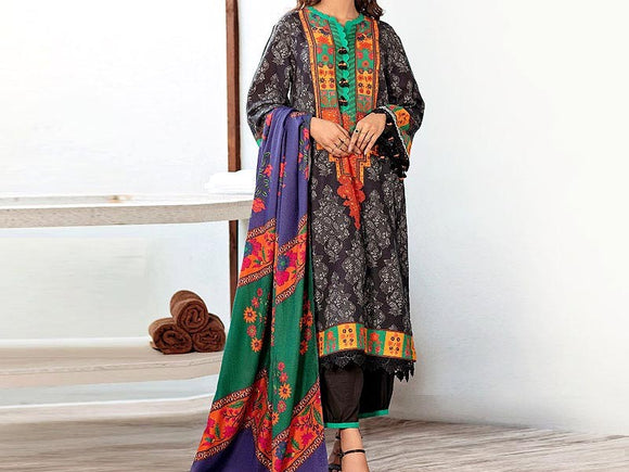 Embroidered Lawn Suit with Chiffon Dupatta (DZ13666)