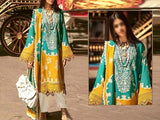 Heavy Embroidered Lawn Dress with Chiffon Dupatta (DZ13669)