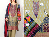 Embroidered Lawn Suit with Chiffon Dupatta (DZ13672)