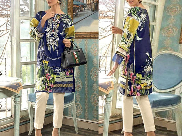 Embroidered Lawn Dress with Chiffon Dupatta (DZ13682)