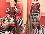 Embroidered Lawn Dress with Chiffon Dupatta (DZ13687)