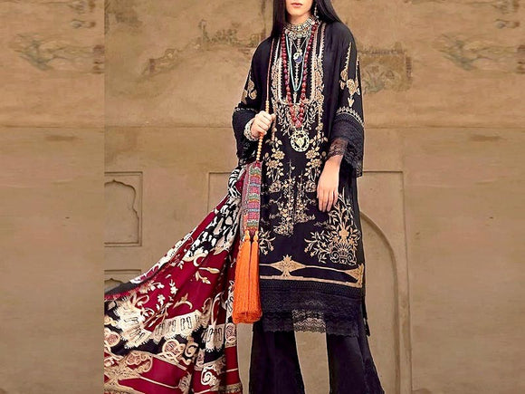 Embroidered Lawn Suit with Chiffon Dupatta (DZ13688)