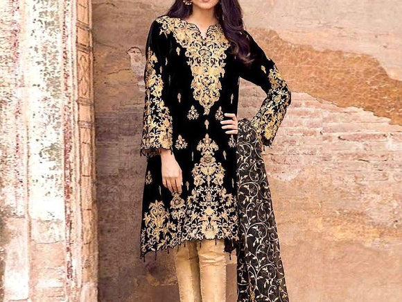 Embroidered Lawn Dress with Chiffon Dupatta (DZ13696)