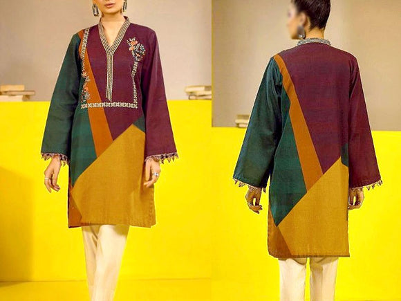 Embroidered Lawn Dress with Chiffon Dupatta (DZ13706)