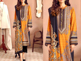 Embroidered Lawn Suit with Scroll Embroidered Chiffon Dupatta (DZ13728)