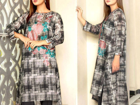 Embroidered Lawn Dress with Chiffon Dupatta (DZ13730)