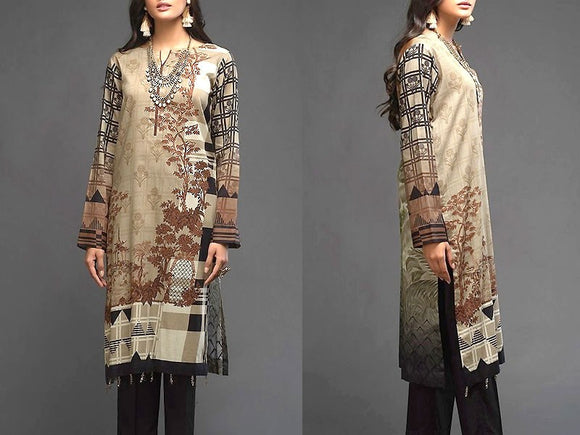 Embroidered Lawn Dress with Chiffon Dupatta (DZ13732)