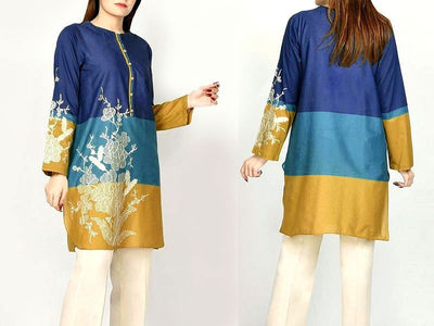 Embroidered Lawn Dress with Chiffon Dupatta (DZ13733)