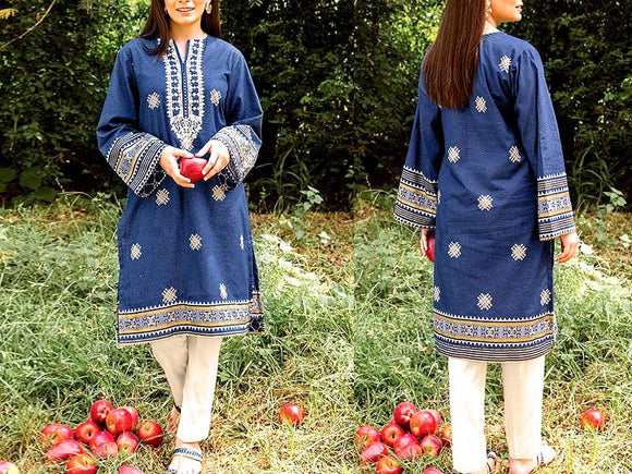 Embroidered Lawn Dress with Chiffon Dupatta (DZ13734)