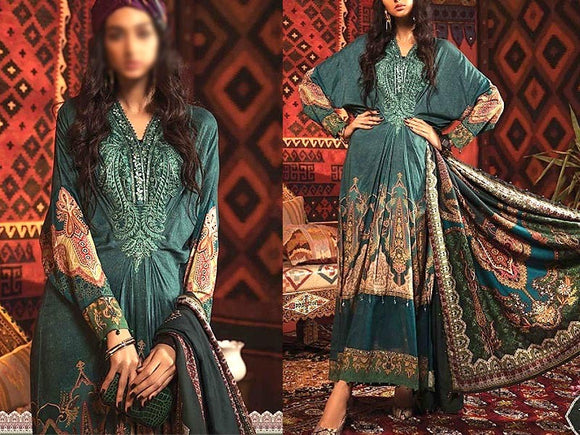 Embroidered Swiss Lawn Dress with Lawn Dupatta (DZ13750)