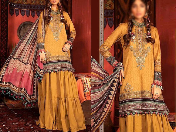 Embroidered Swiss Lawn Dress with Lawn Dupatta (DZ13753)