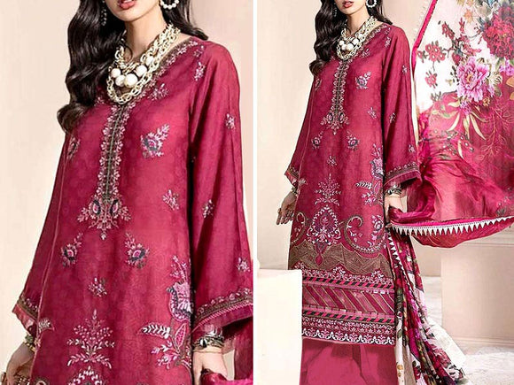 Embroidered Lawn Dress with Lawn Dupatta (DZ13754)
