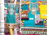 Embroidered Lawn Suit with Chiffon Dupatta (DZ13755)