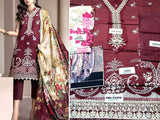 Embroidered Lawn Dress with Lawn Dupatta (DZ13756)