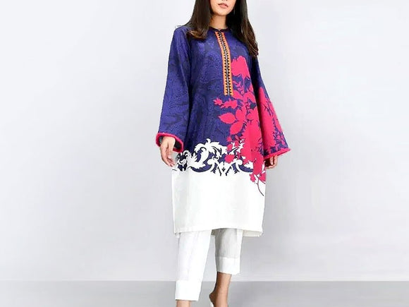Embroidered Lawn Suit with Chiffon Dupatta (DZ13782)
